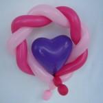 Ballonfigur Herz mit Kranz