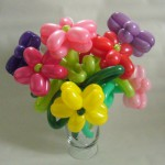 Verschiedene Blumen als Ballonfiguren