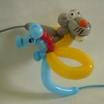 Ballontiere Maus und Seepferdchen