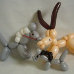 Ballonfiguren Pferde und Steinbock