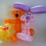 Drei Luftballonfiguren