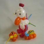 Ballonfiguren Huhn und Käfer