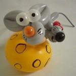 Ballontiere Mäuse im Käse
