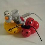 Luftballonfigur Maus im Käse und Marienkäfer