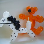 Ballontiere Pferd und Bär