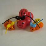 Drei Kaefer als Ballonfiguren