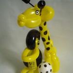 Luftballonfiguren Giraffe und Pinguin