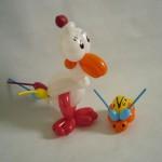 Ballonfiguren Huhn und Marienkäfer