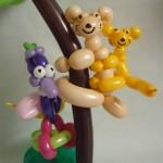 Ballonfiguren Paradiesvogel und Koalas
