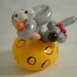 Luftballonfiguren Mäuse im Käse