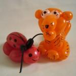 Ballonfiguren Kaefer und Tiger