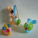 Ballonfiguren Baer und Fische