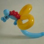 Ballonfigur Seepferdchen