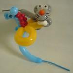 Ballontier Seepferdchen und Maus
