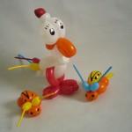Luftballonfiguren Huhn und Marienkäfer